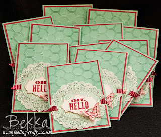 Oh Hello cards - visit www.bekka.stampinup.net & save 25% this stamp set until 28 October 2013
