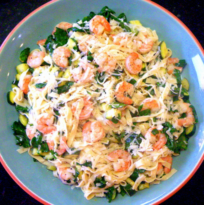 52 Ways to Cook: Lemon Linguine with Shrimp Zucchini and Spinach