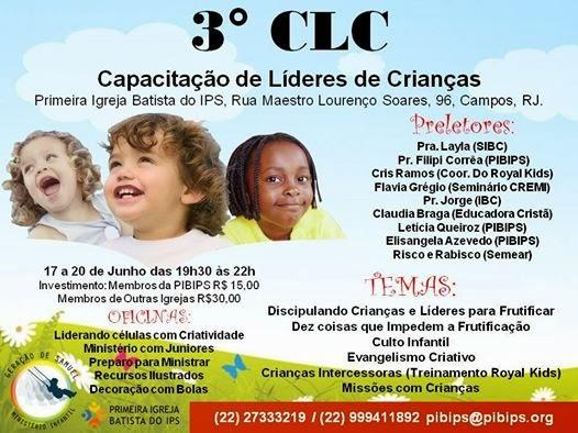 17 a 20 de junho em Campos/RJ.