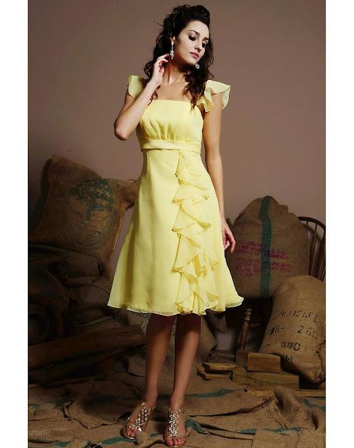 yellow dress very ripe