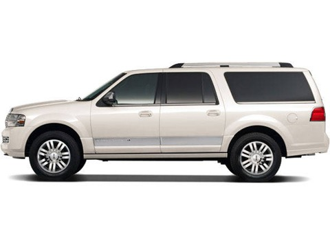 Side view of white 2011 Lincoln Navigator