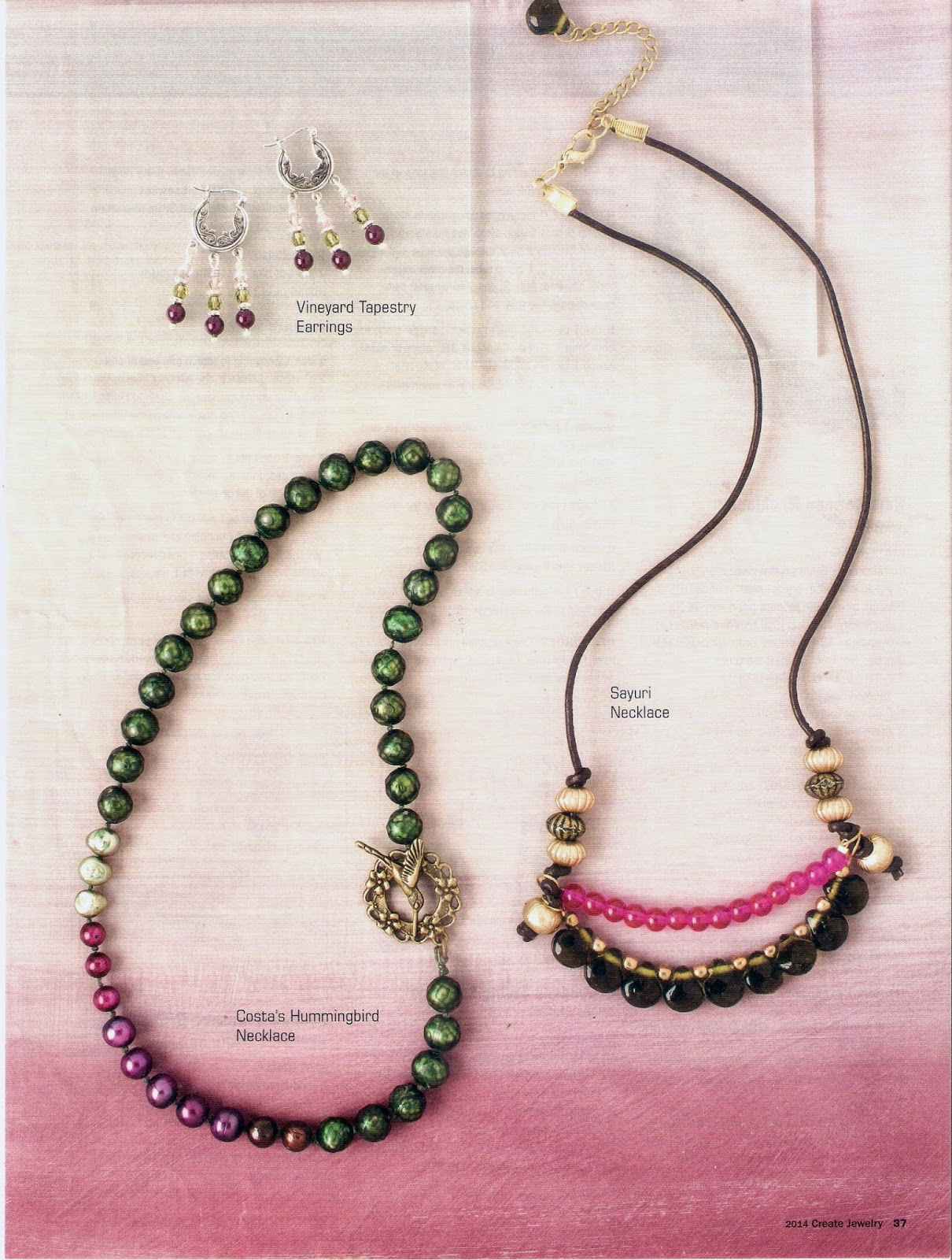 Sayuri Necklace, feathers in flight, create jewelry magazine