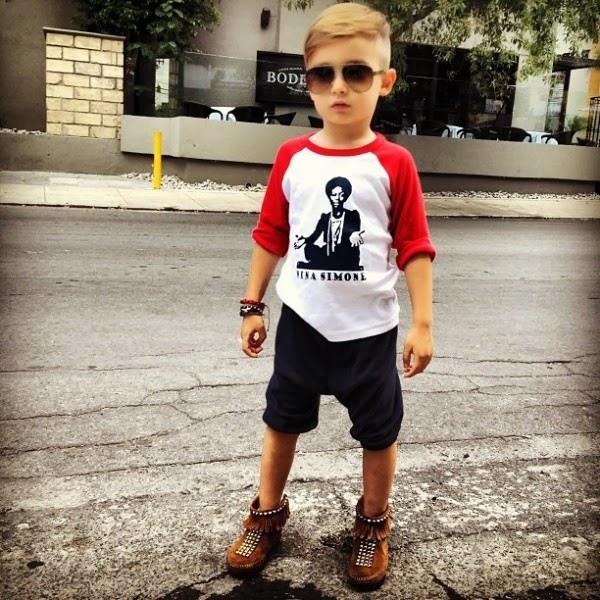 Foto bocah laki-laki modis dan keren di instagram