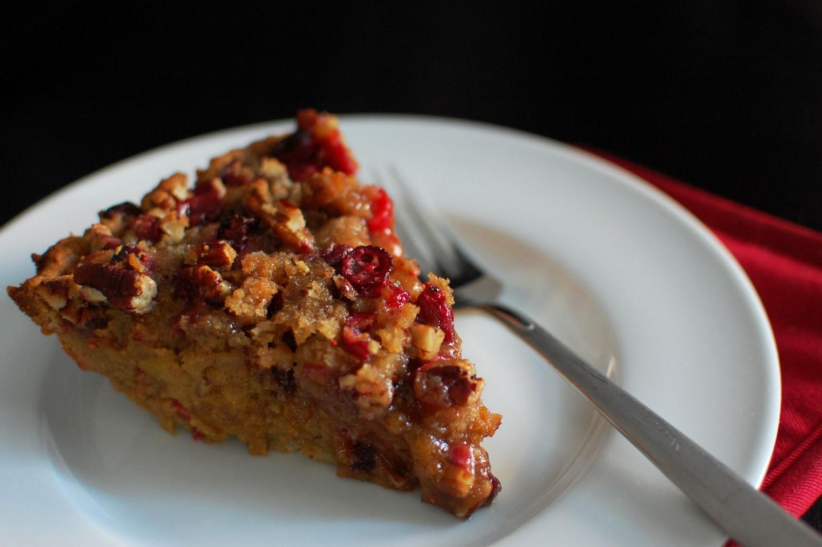 Pumpkin, Cranberry, and Pecan Pie | Beantown Baker