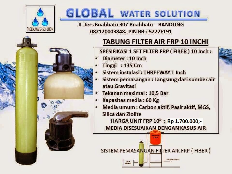 HARGA TABUNG FILTER AIR FRP 10