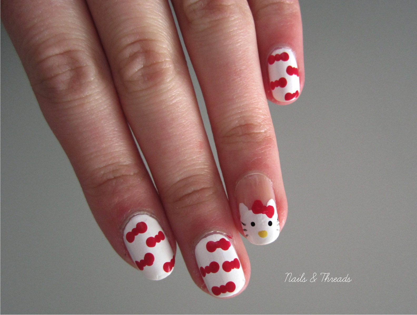 the gallery for gt nails art hello kitty