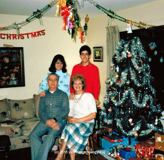Maurice Belair and family Christmas 1987