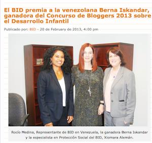 Primer Premio Concurso Bloggers del BID