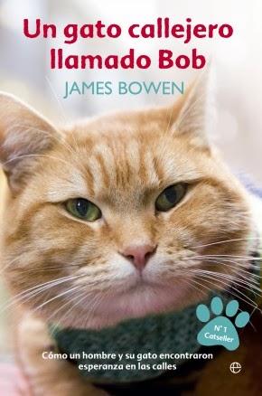 """Portada del libro """"Un gato Callejero llamado Bob"""""""