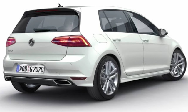 VW Golf 2017 com facelift - traseira