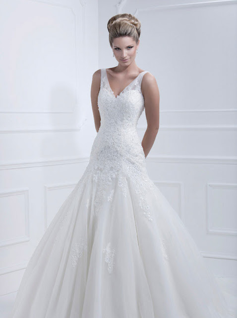 Ellis wedding dresses 2013 v neck