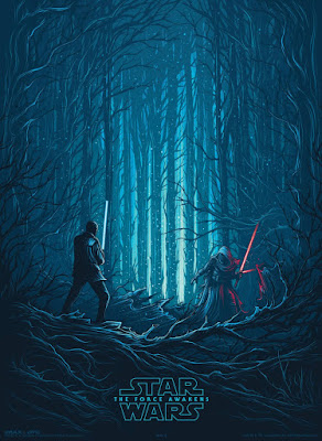 "Star Wars: The Force Awakens ""Finn vs Kylo Ren"" IMAX Print by Dan Mumford x Gallery 1988"
