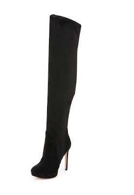 Sam Edelman black over the knee high heel boots