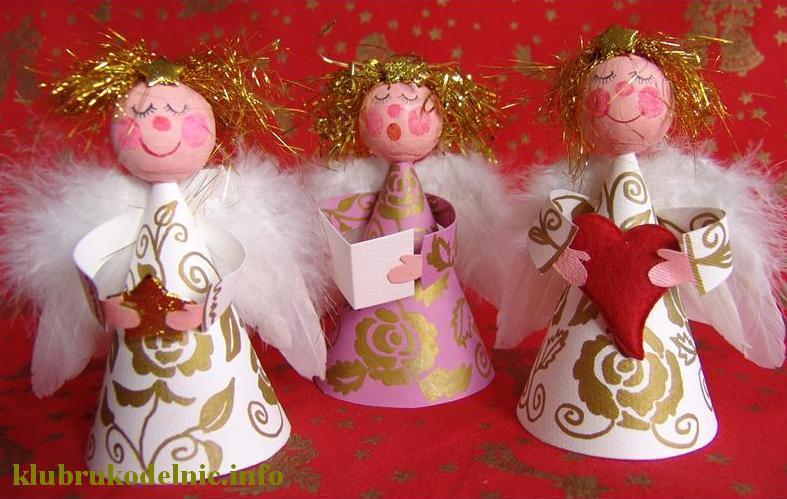 Ангелочки на елку своими руками фото