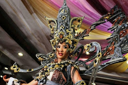 Elvira Devinamira Putri Indonesia Dengan Gaun Borobudurnya