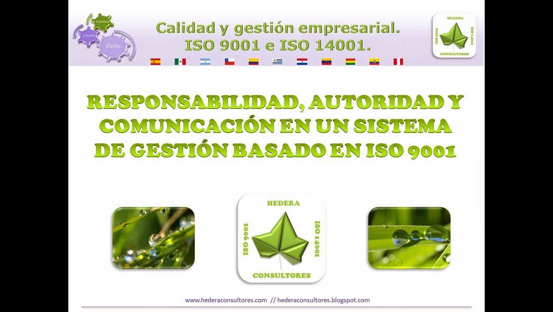 Responsabilidad y autoridad ISO 9001