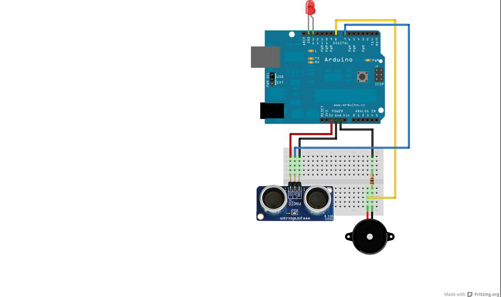 Arduino project distance detector