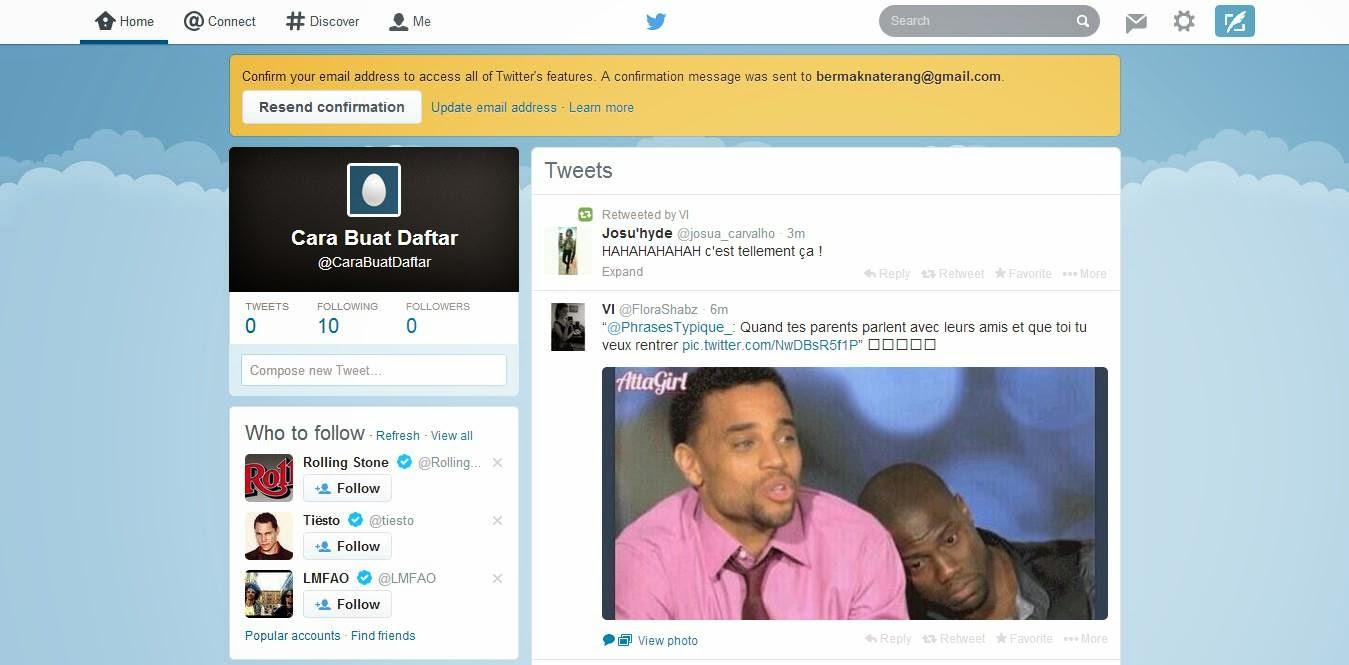 Cara Membuat Twitter dan Daftar Twitter gambar 8