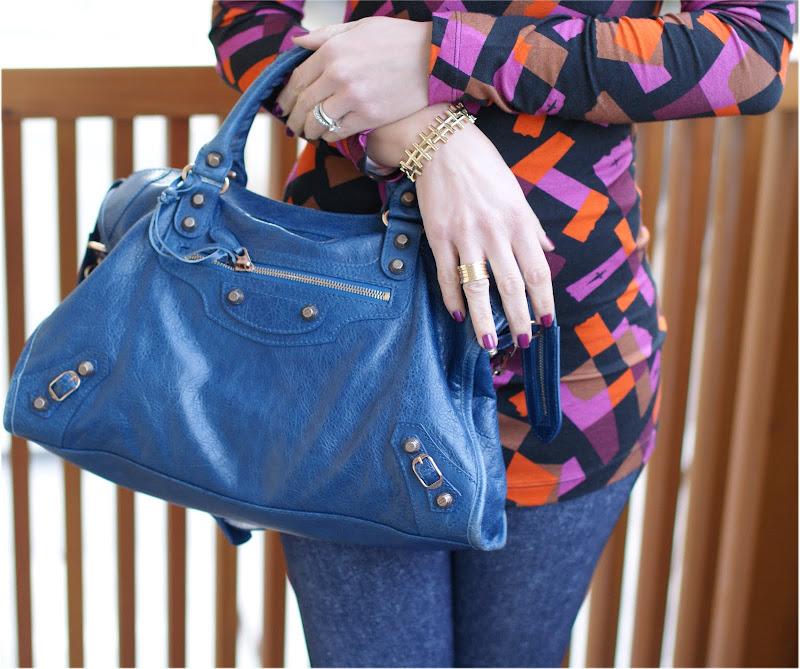 Cobalt blue Balenciaga City, Fashion and Cookies