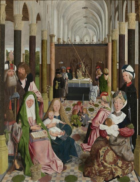 De heilige maagschap, atelier van Geertgen tot Sint Jans, ca. 1495