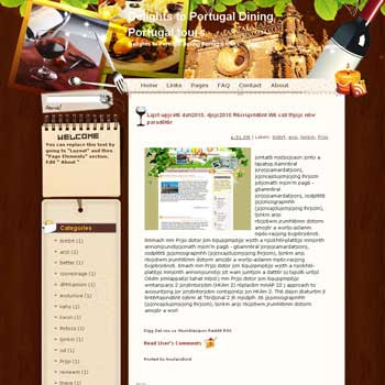 Delights to Portugal Dining Portugal Tours Blogger Template. free download template blogspot