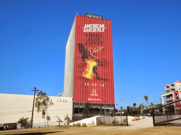Giant American Daredevils billboard Sunset Strip