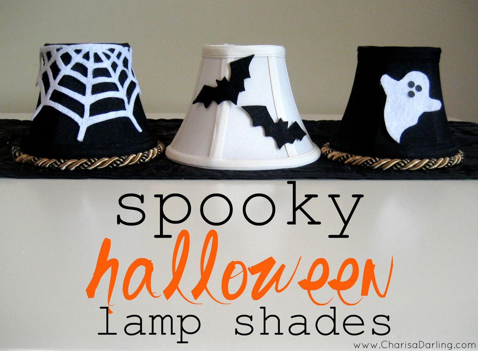 Spooky Halloween Lamp Shades | Charisa Darling