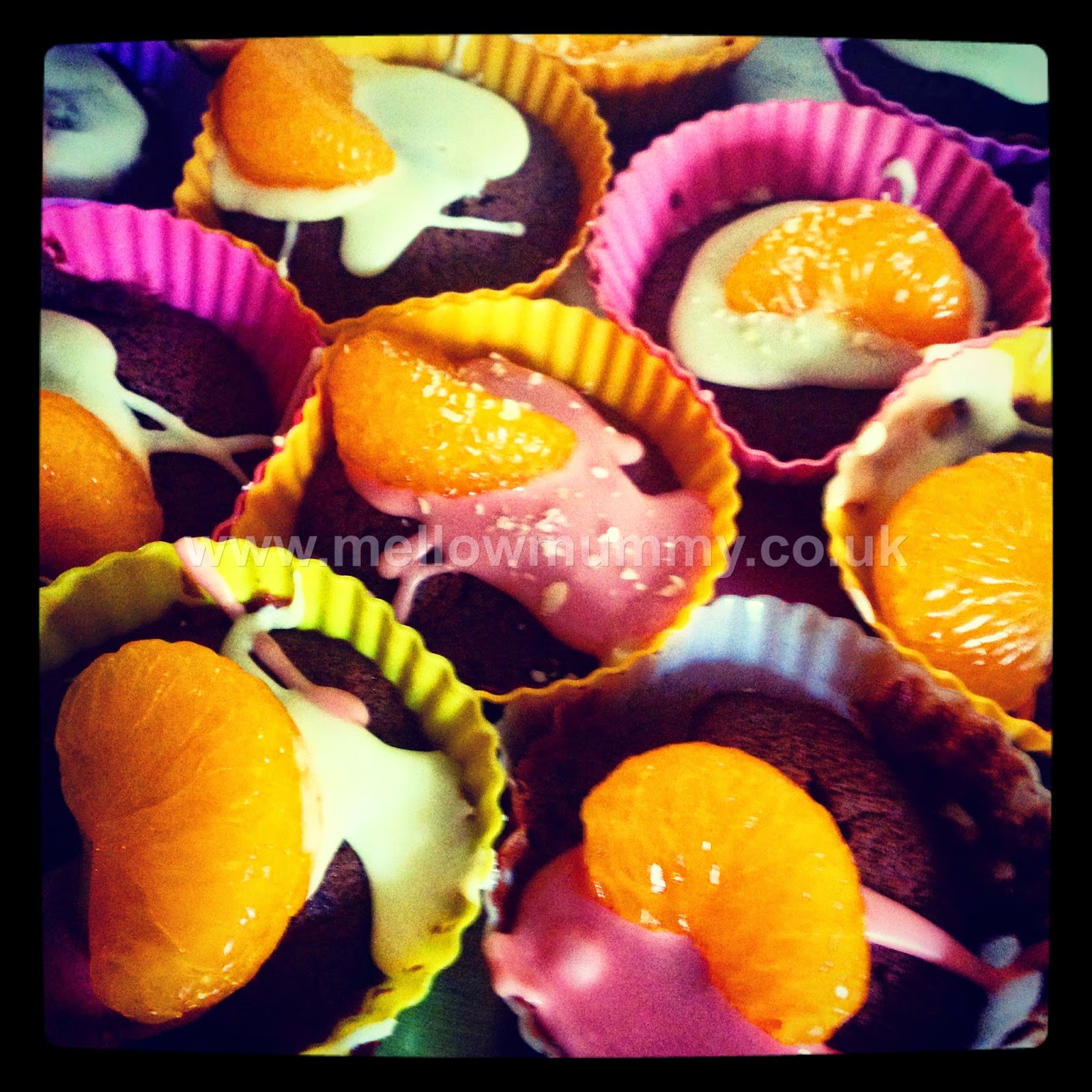 Chocolate Orange Blossom and Mandarin Cupcakes