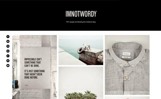 Imnotwordy theme