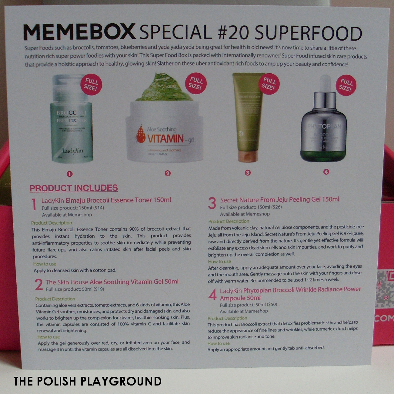 Memebox Special #20 Superfood Unboxing