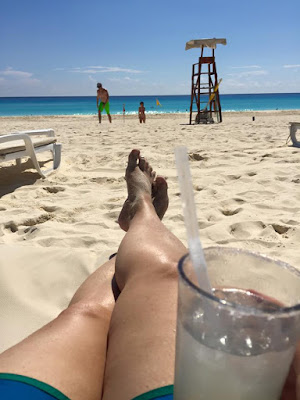 Margarita on the beach.