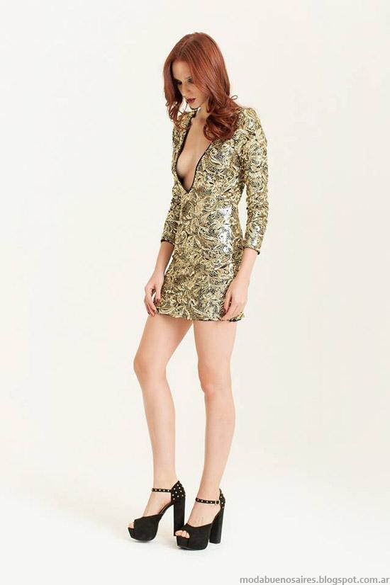 Vestidos de fiesta cortos Silvina Ledesma. Vestidos de moda 2014.