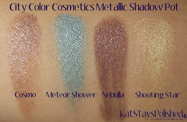 City Color Cosmetics Metallic Shadow Pot | Kat Stays Polished