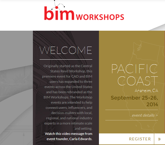 http://bim-workshops.com/events/pacific-coast/