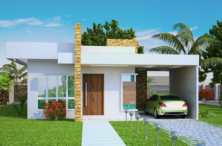 Construindo minha casa clean 35 fachadas de casas for Casas minimalistas 2016