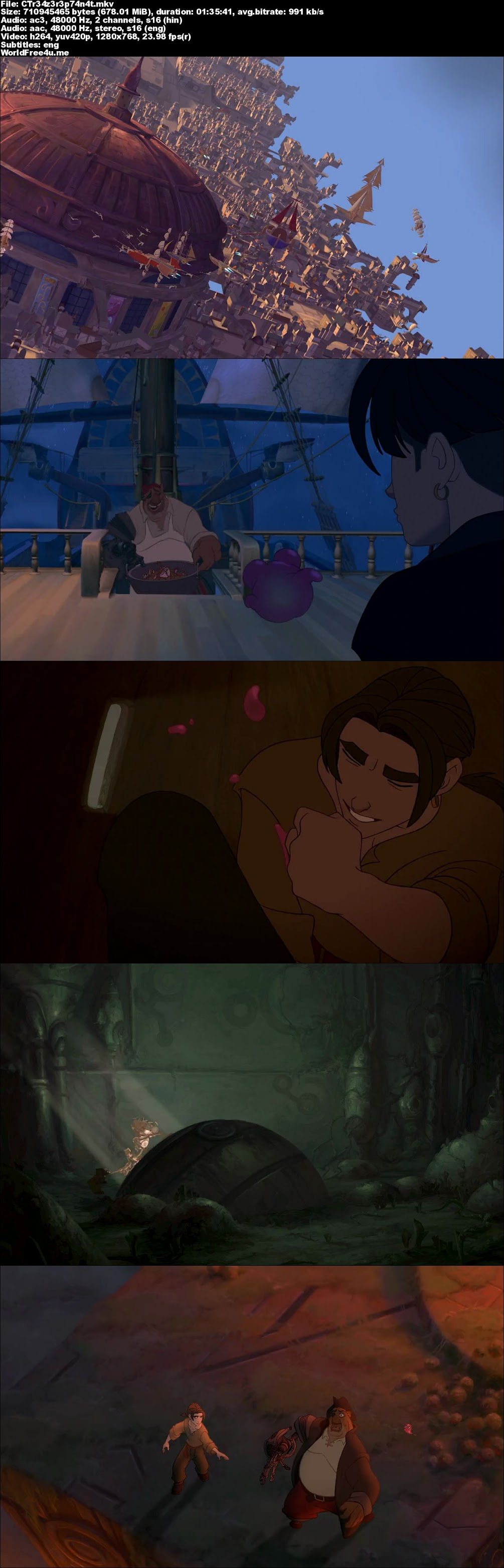 Screen Shot Of Treasure Planet 2002 In Hindi English Dual Audio Bluray 720P