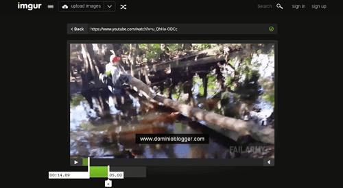 Crea GIFs animados usando videos de Youtube en Imgur Video To Gif
