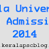 Kerala University PG Admission 2014
