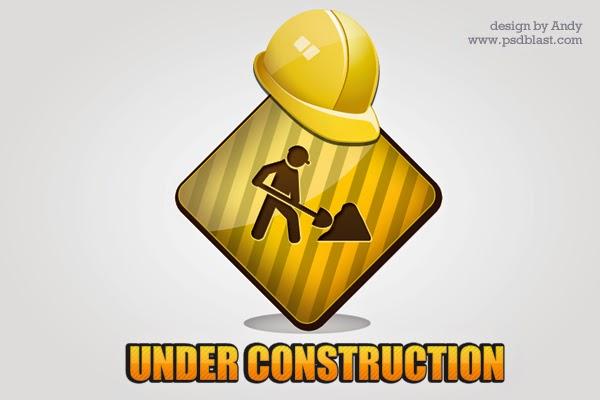 Under Construction PSD Icon