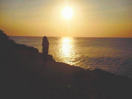 Bali beach, sunset, and girl