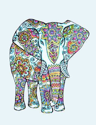 Completed Coloured Elephant