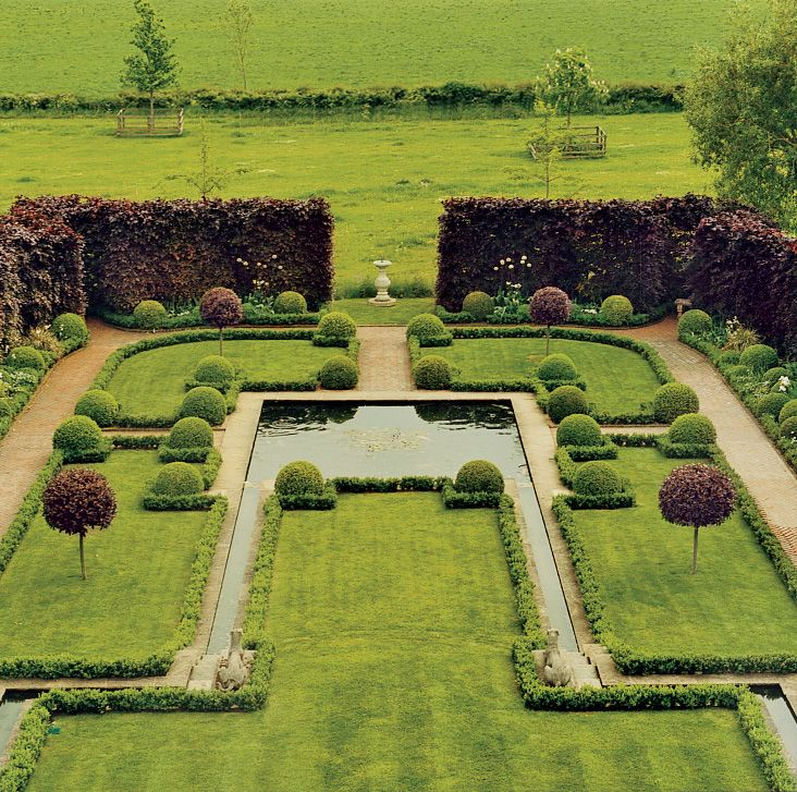 The garden symmetry for Georgian landscape design