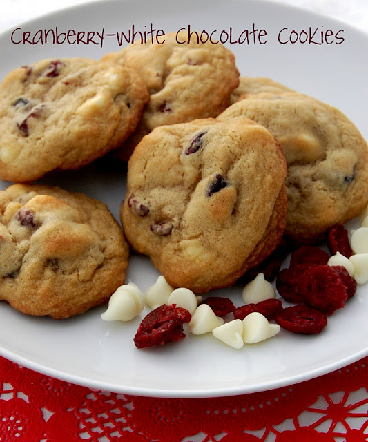 ... ....and A Lot About Food!: Cranberry White Chocolate Chip Cookies