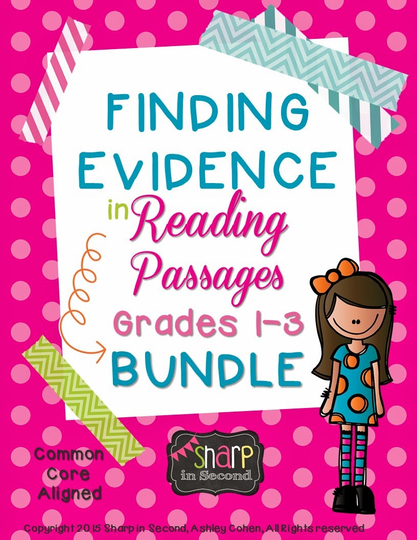https://www.teacherspayteachers.com/Product/BUNDLED-Finding-Evidence-in-Reading-Passages-Common-Core-Aligned-1740188