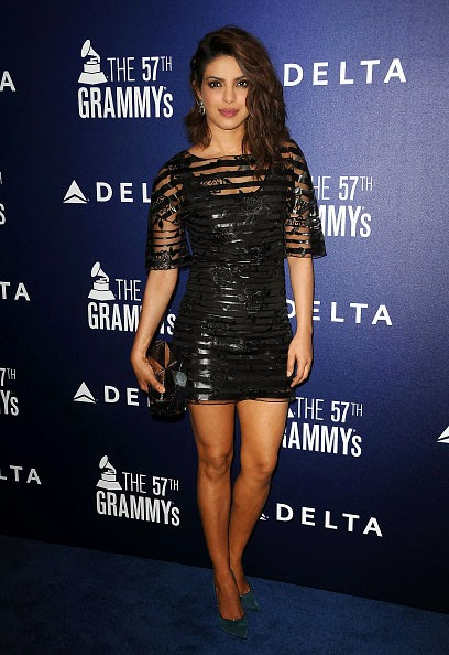 Priyanka Chopra in Black Mini-dress