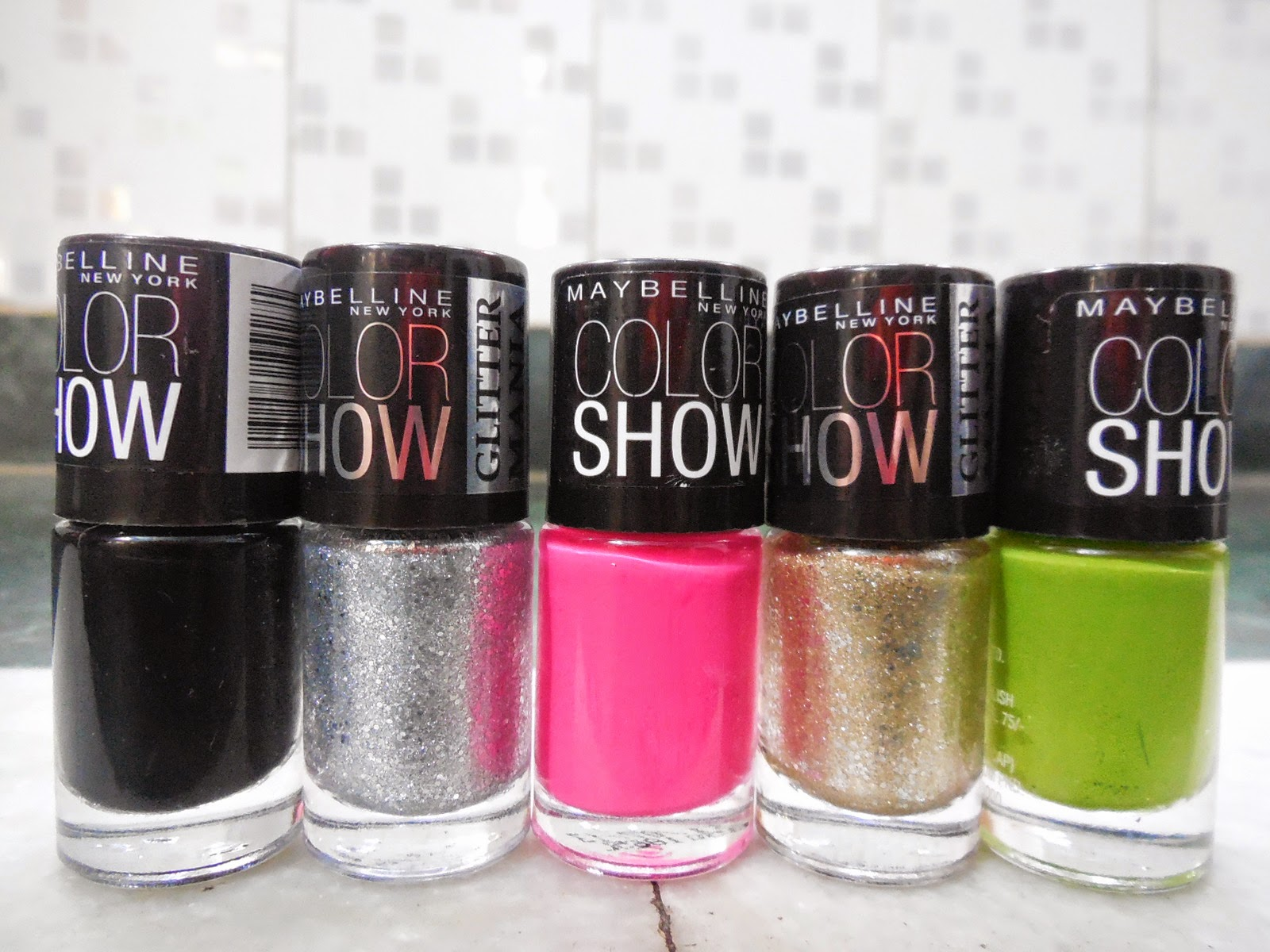 Maybelline colorshow Nail Paints Review