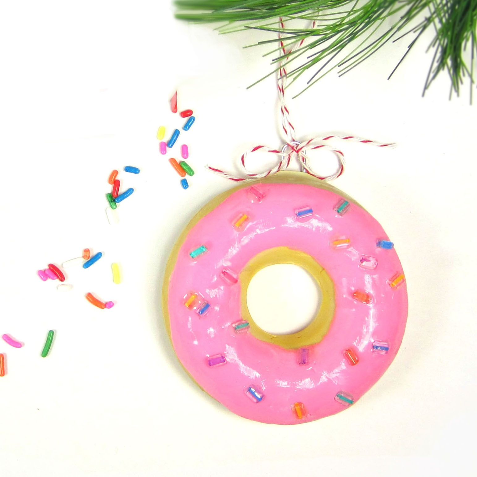 365 designs diy donut ornaments a fun craft for the for Family christmas ornaments to make