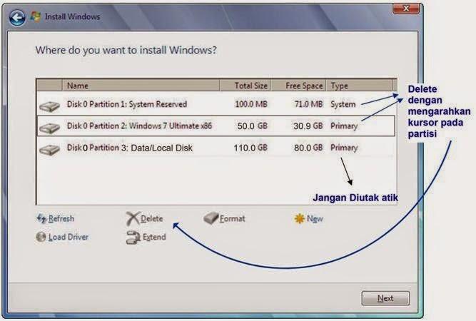 Cara Instal Windows 7 yang benar disertai gambar