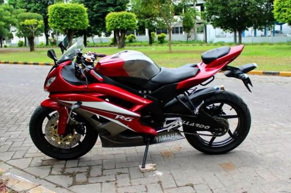 Modifikasi Motor Yamaha Vixion Ala R6 title=