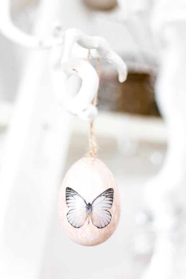 Osterei mit Schmetterling - Osterinspiration